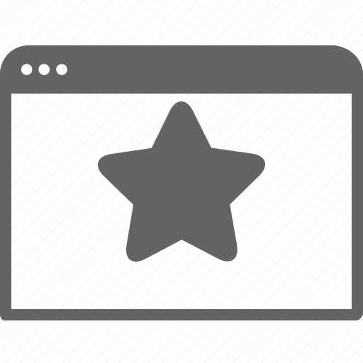 bookmark, communication, favourite, save, star, window icon