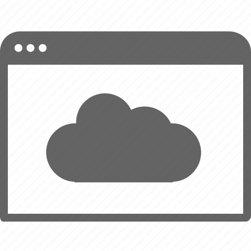 cloud, communication, computer, internet, window icon