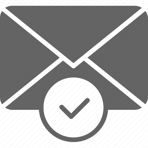 checkmark, communication, confirm, email, envelope, message icon
