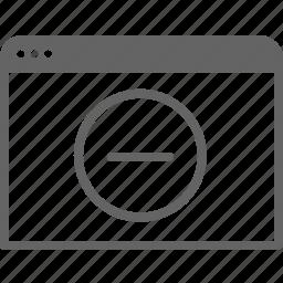 communication, computer, delete, internet, remove, window icon