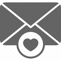 communication, email, envelope, favourite, guardar, heart, message, save icon
