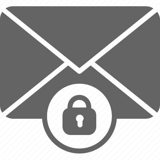 communication, email, envelope, lock, message, private, security icon