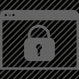communication, computer, internet, lock, security, window icon