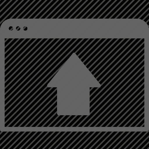 arrow, communication, internet, move, up, window icon