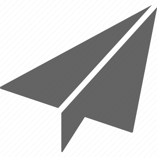 aeroplane, communication, paper, send icon