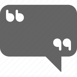 chat, communication, message, quotation, text icon