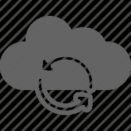 arrow, cloud, communication, internet, refresh icon