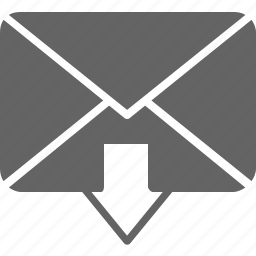 arrow, communication, down, envelope, message, receive icon