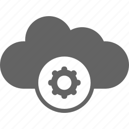 cloud, communication, internet, settings icon
