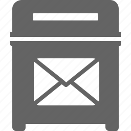 bin, communication, email, envelope, trash icon