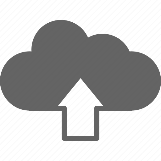 arrow, cloud, communication, save, share, up, upload icon