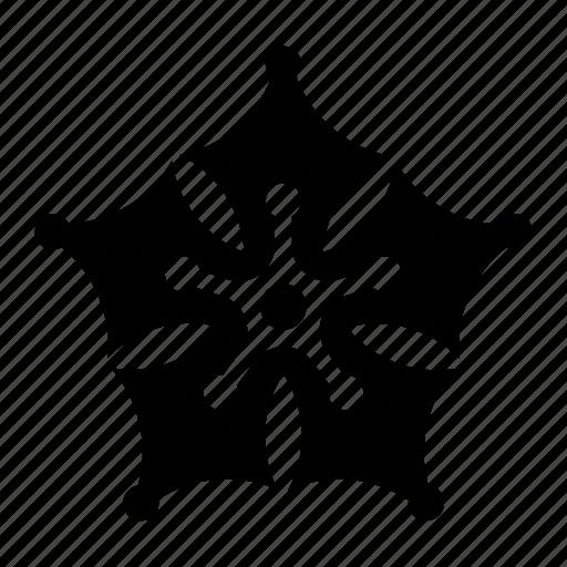 bloom, decoration, five, flower, pattern icon