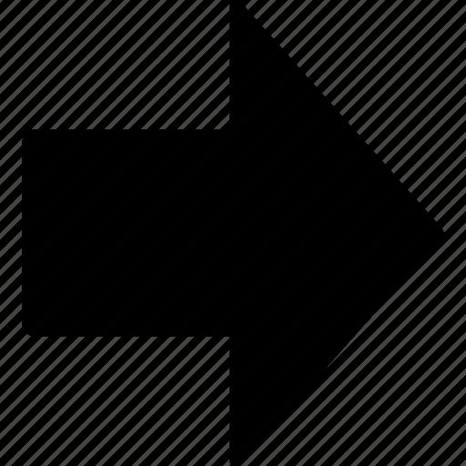 arrow, forward, next, right, ui icon