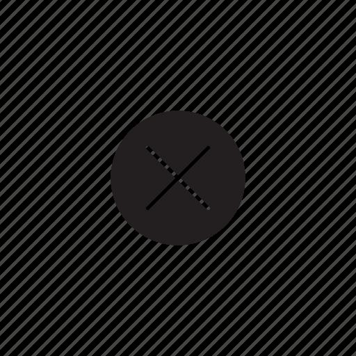 cancel, cross, delete, interface, ui, user icon