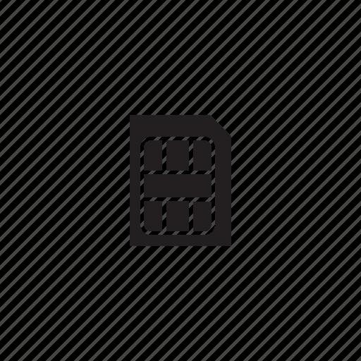 interface, simcard, ui, user icon