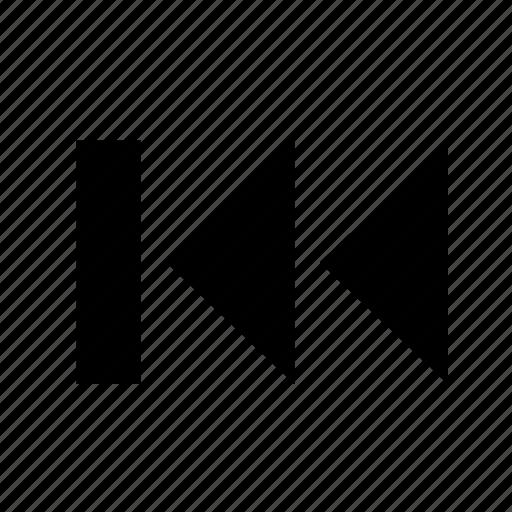 backward, first, music, play, skip icon
