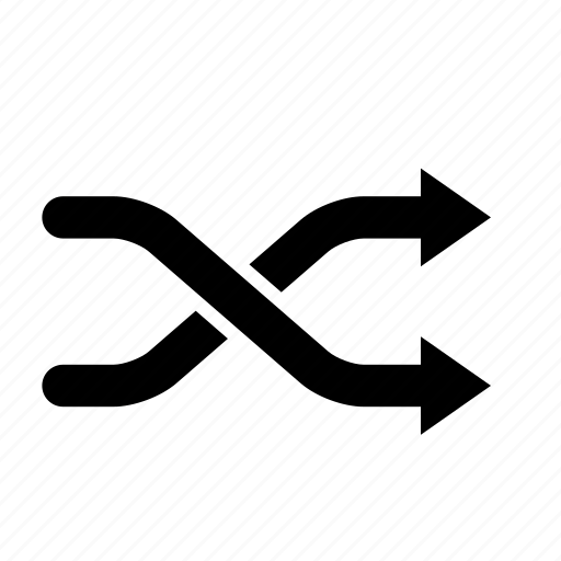 arrow, audio, music, play, shuffle, sound icon