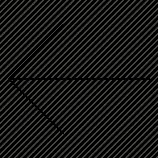 arrows, back, basic, hairline, left, minimal, r icon