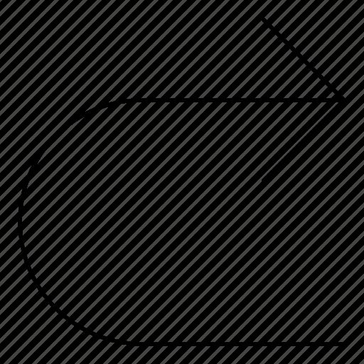 arrows, basic, r, return, right icon