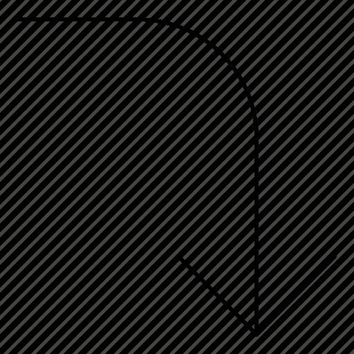 arrows, back, basic, bottom, hairline, minimal, r icon