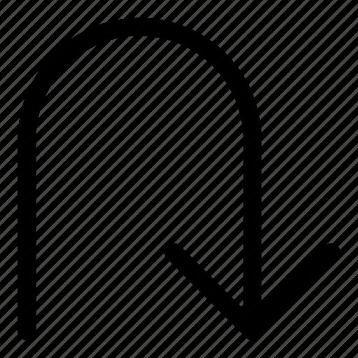 arrows, basic, down, r, refresh icon