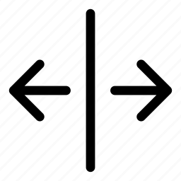 arrows, basic, increase, r, split icon