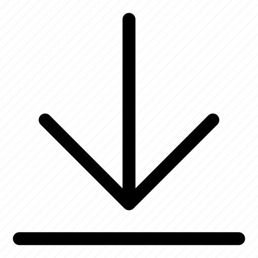 arrows, basic, down, download, r icon