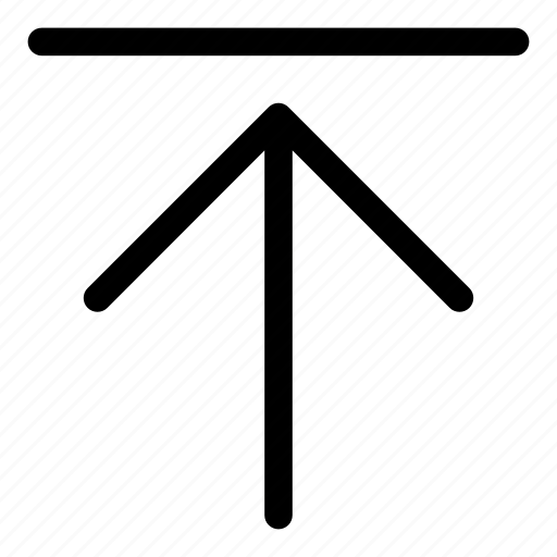 arrows, basic, r, top, upload icon