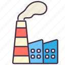 ecology, environment, factory, industries, leaves, plant, pollution icon