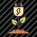power, plug, energy, ecology, save, plant, tree