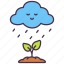 cloud, ecology, environment, growth, rain, tree, water icon