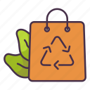 ecology, environment, green, product, recycle, reuse, shopping icon