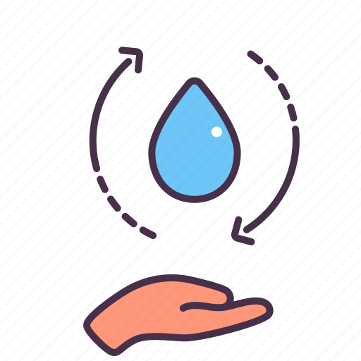 Care, ecology, environment, hand, reuse, save, water icon - Download on Iconfinder