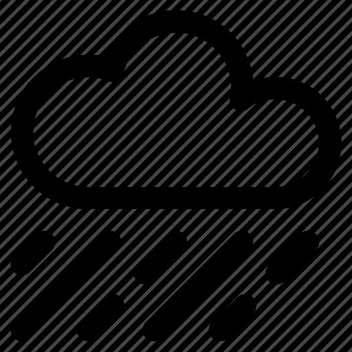 climate, cloud, rain, rainy, water drop, weather icon