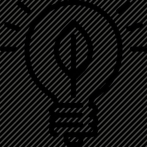 eco, ecology, green energy, light, lightbulb, sustainable icon