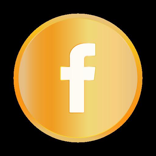 chat, communication, facebook, golden, popular, social icon