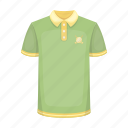 accessory, clothes, t-shirt, golfer icon