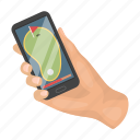 field, golf, mobile, navigator, phone icon