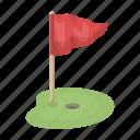 golf, flag, field, hole, checkbox
