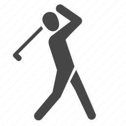 golf, golfer, hitting, sports, stroke icon