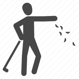 check, golf, golfer, sports, throwing grass, wind icon