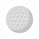 ball, cartoon, circle, golf, golfing, round, white icon