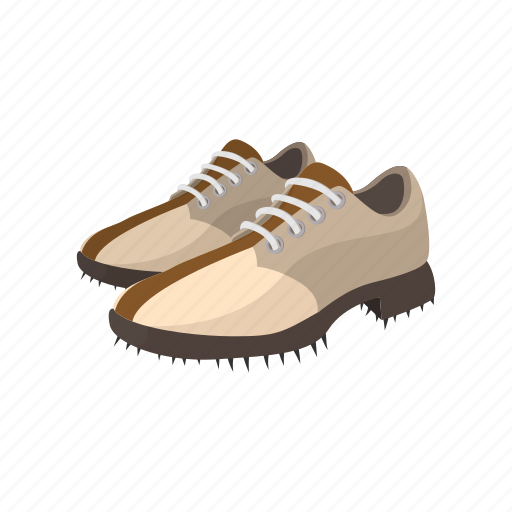 cartoon, fashion, game, golf, leather, shoe, sport icon
