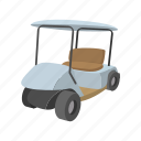 car, cart, cartoon, club, golf, sport, vehicle icon