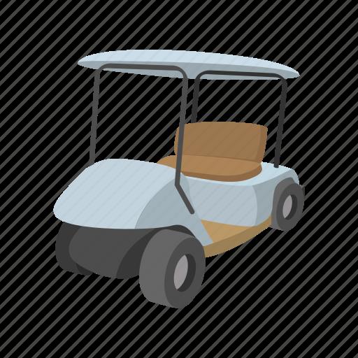 car, cart, cartoon, club, golf, sport, vehicle icon