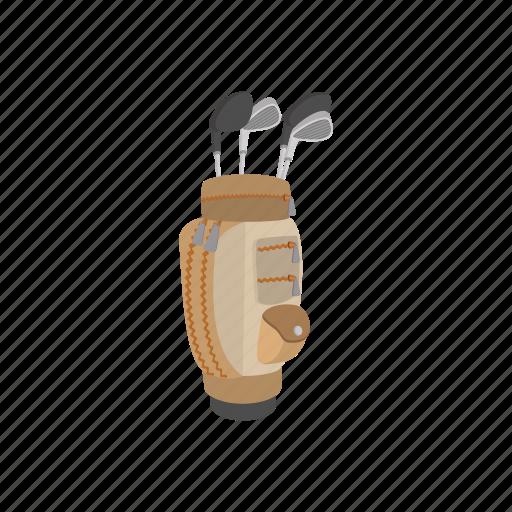 bag, cartoon, club, game, golf, metal, sport icon