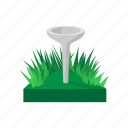 cartoon, equipment, golf, golfing, green, sport, tee icon