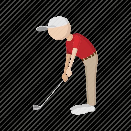 cartoon, golf, golfer, golfing, player, silhouette, sport icon