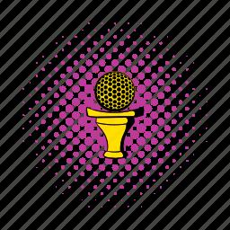 comics, equipment, game, golf, golfing, sport, tee icon
