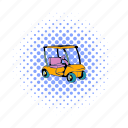 car, cart, club, comics, golf, sport, vehicle icon